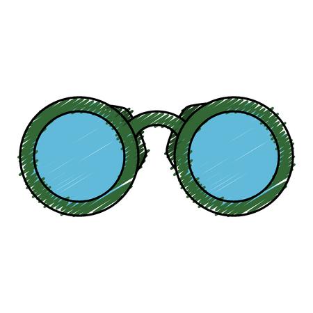 Een vector de illustratieontwerp van het verrekijkersapparaat geïsoleerd pictogram.