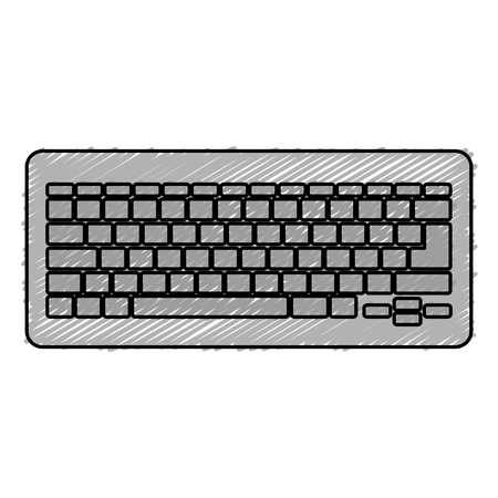 컴퓨터 키보드 격리 아이콘 벡터 일러스트 디자인을 격리합니다.
