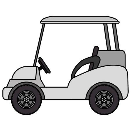 골프 카트 격리 된 아이콘 벡터 일러스트 디자인 일러스트