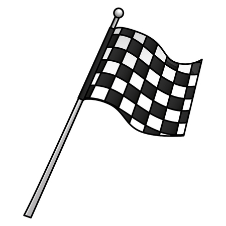 sport flag isolated icon vector illustration design Illusztráció