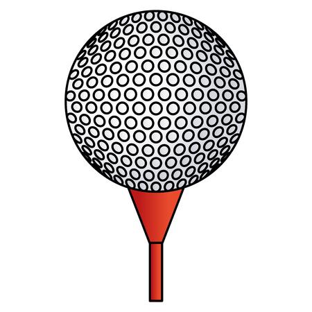 A golf ball isolated icon vector illustration design. Illustration