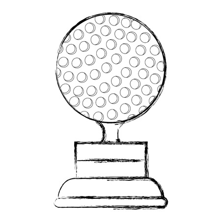 golf trophy isolated icon vector illustration design