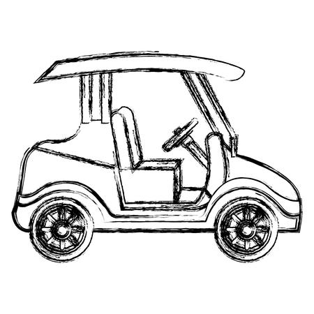 golfkar geïsoleerd pictogram vectorillustratieontwerp Stock Illustratie