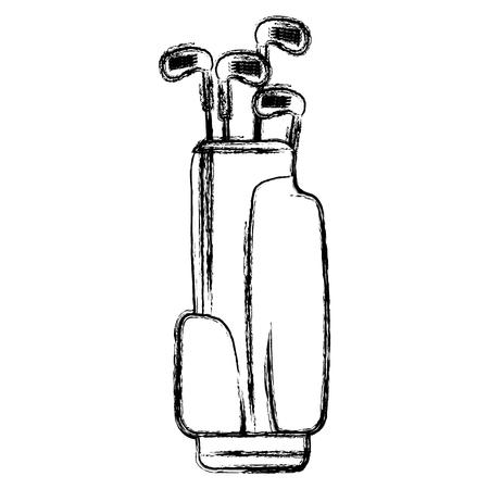 sac de golf avec des clubs illustration vectorielle conception