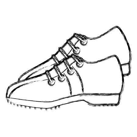 Golf shoes isolated icon vector illustration design Çizim
