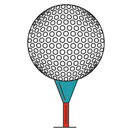 A golf ball isolated icon vector illustration design. Illustration