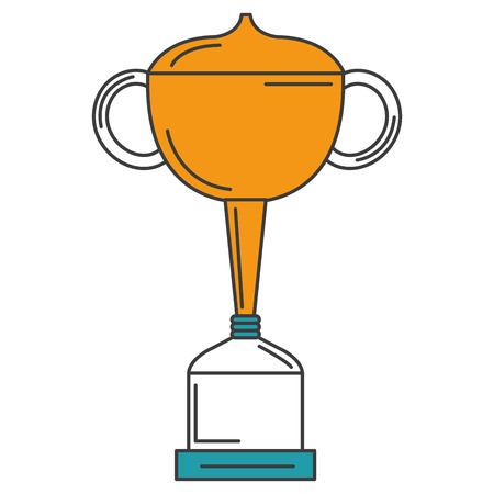victor: A trophy cup isolated icon vector illustration design.
