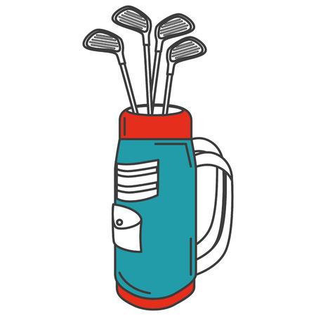 클럽 벡터 일러스트 디자인과 골프 가방