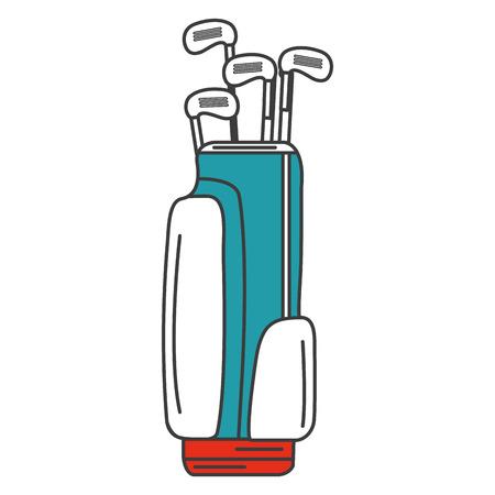 sac de golf avec des clubs illustration vectorielle conception Vecteurs