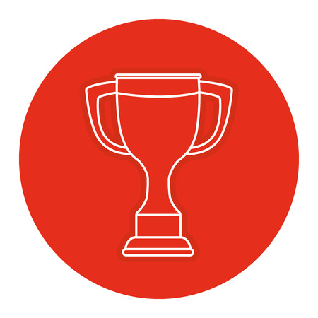 Trophy cup isolated icon vector illustration