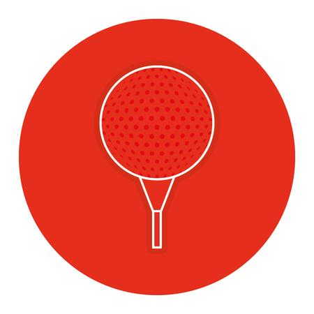 Golf ball isolated icon vector illustration Illustration