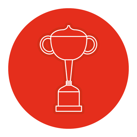 trophy cup isolated icon vector illustration design Stock fotó
