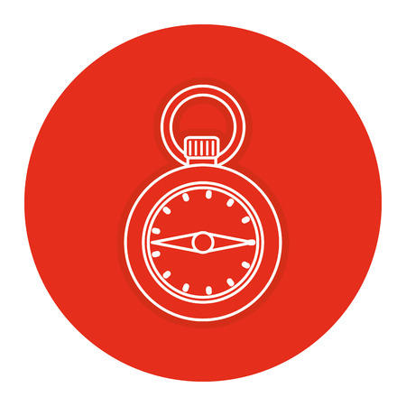 Chronometer timer isolated icon vector illustration