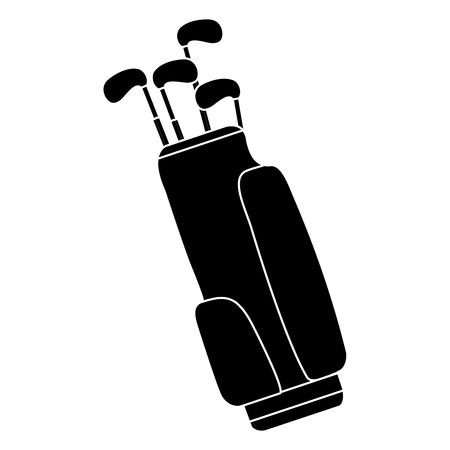 Sac de golf avec motif d'illustration vectorielle