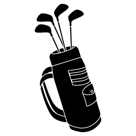 golf bag with clubs vector illustration design