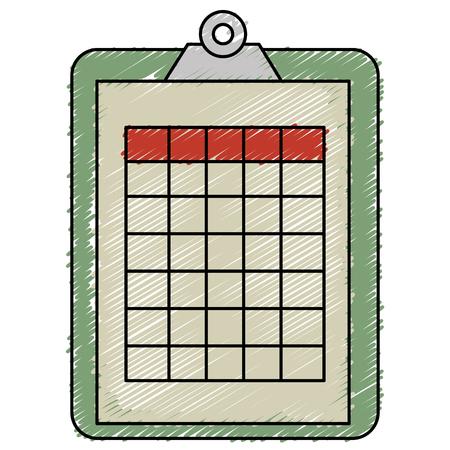 checklist: clipboard document isolated icon vector illustration design