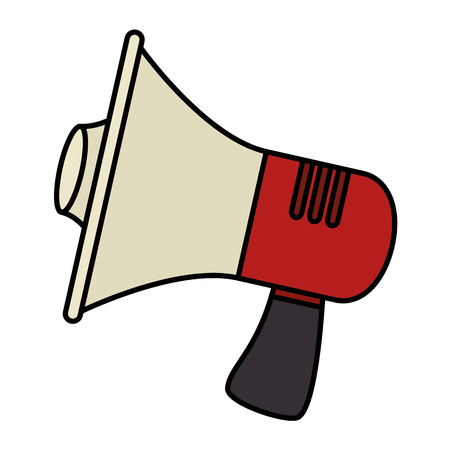 Megaphone isolated icon vector illustration design