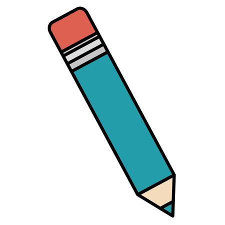 writing instruments: pencil write isolated icon vector illustration design Illustration