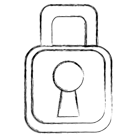 Sicuro lucchetto sicuro icona illustrazione vettoriale illustrazione Archivio Fotografico - 83792547