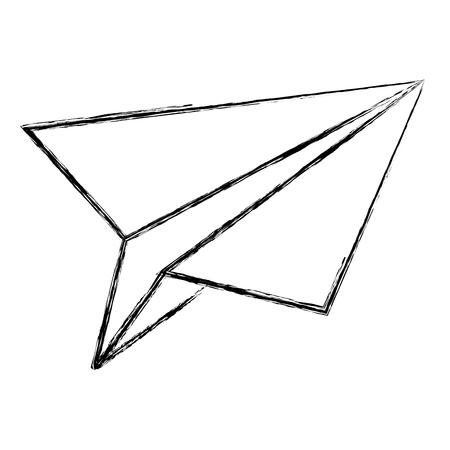 Papier vliegtuig geïsoleerd pictogram vector illustratie ontwerp Stockfoto - 83792618