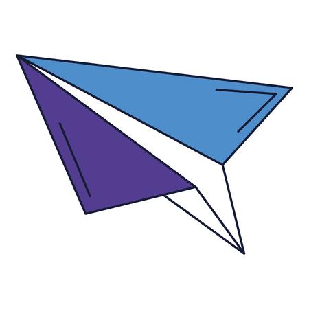 Papier vliegtuig geïsoleerd pictogram vector illustratie ontwerp Stockfoto - 83804887
