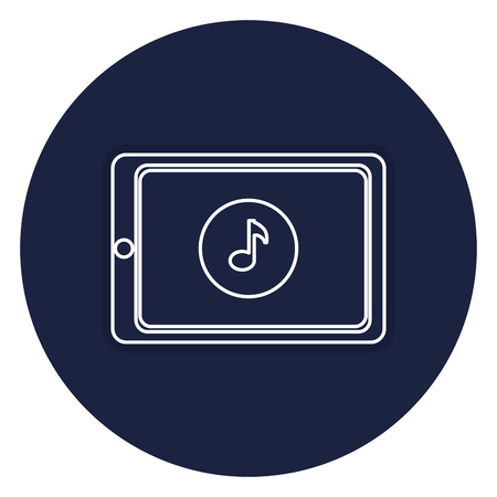 smartphone device with music note vector illustration design