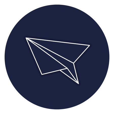 Papierflieger isoliert Symbol Vektor-Illustration , Design , Standard-Bild - 83804928
