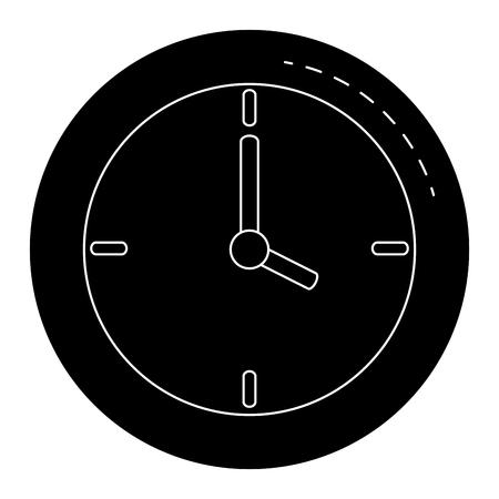time clock isolated icon vector illustration design Illustration