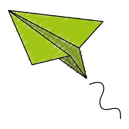 Papier vliegtuig geïsoleerd pictogram vector illustratie ontwerp Stockfoto - 83804964