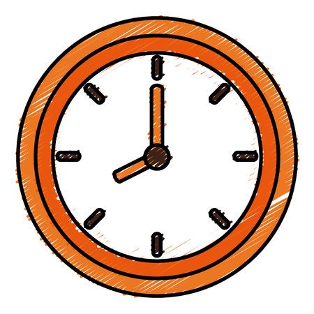 時計アイコン ベクトル イラスト デザインを分離しました。 写真素材 - 83804966