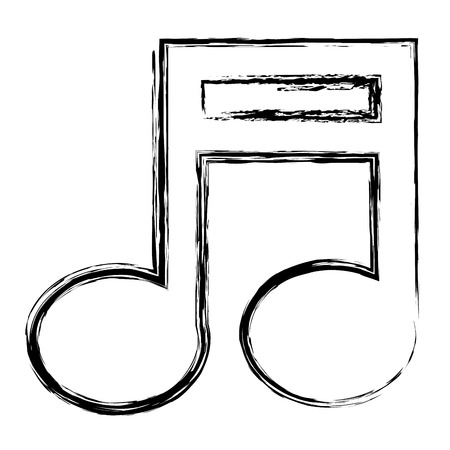 music note isolated icon vector illustration design Banco de Imagens - 83795451