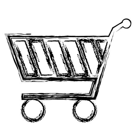 Carrello della spesa isolato icona illustrazione vettoriale di progettazione Archivio Fotografico - 83795473