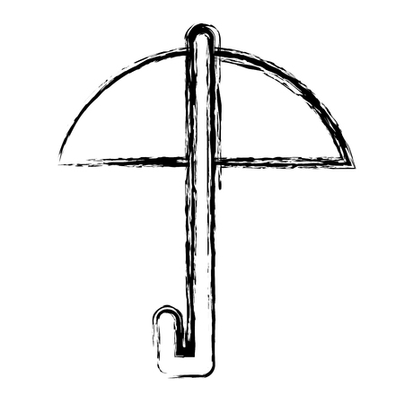 傘の保護絶縁アイコン ベクトル イラスト デザイン