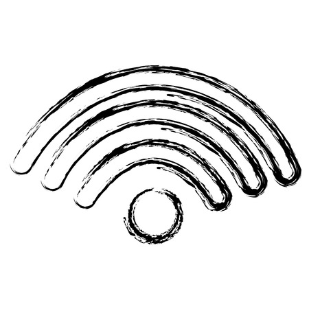 Segnale wifi isolato icona illustrazione vettoriale progettazione Archivio Fotografico - 83795424