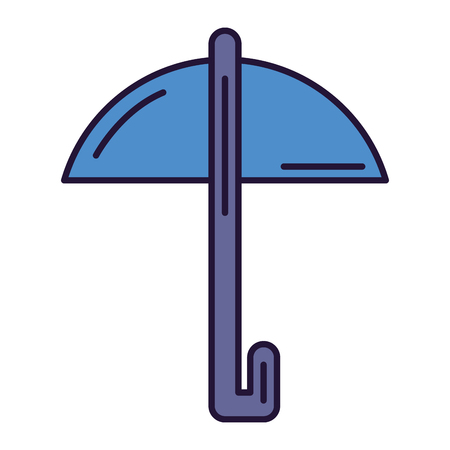 umbrella protection isolated icon vector illustration design Stock Vector - 83795780