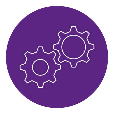 gears machinery isolated icon vector illustration design Illustration