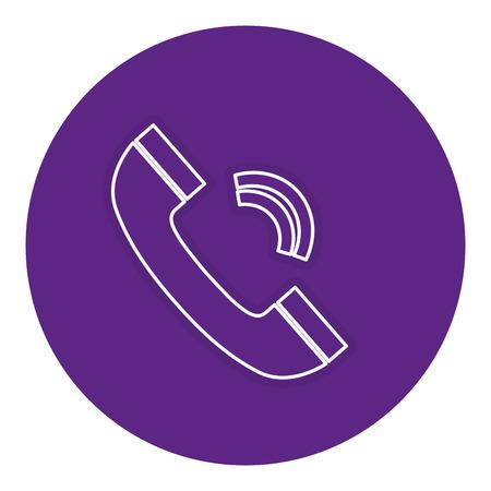 電話サービスの分離のアイコン ベクトル イラスト デザイン