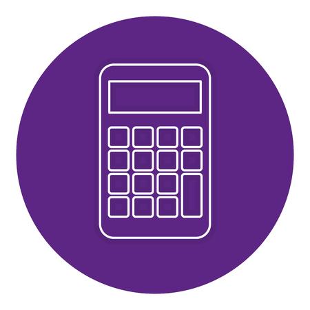 電卓デバイス分離アイコン ベクトル イラスト デザイン  イラスト・ベクター素材