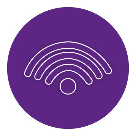 wifi signal isolated icon vector illustration design