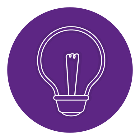 bulb light isolated icon vector illustration design Reklamní fotografie