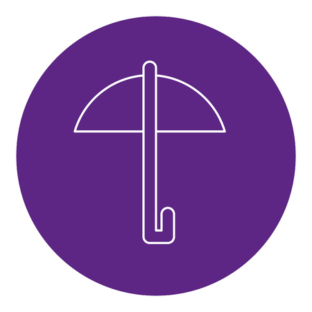 umbrella protection isolated icon vector illustration design