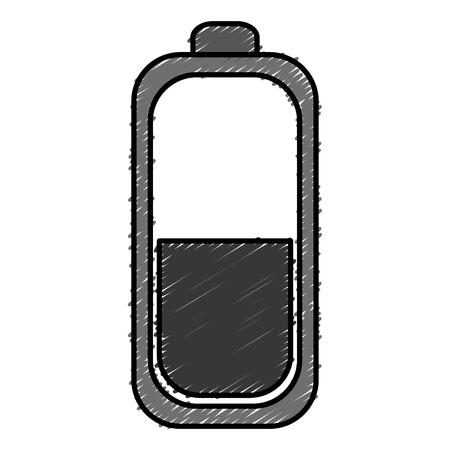Batterie isoliert isoliert Symbol Vektor-Illustration , Design , Standard-Bild - 83796422