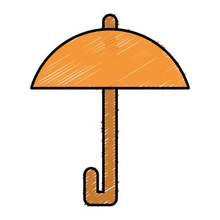 우산 보호 고립 된 아이콘 벡터 일러스트 레이 션 디자인