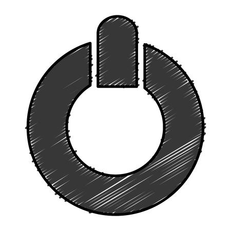 power switch button icon vector illustration design Иллюстрация