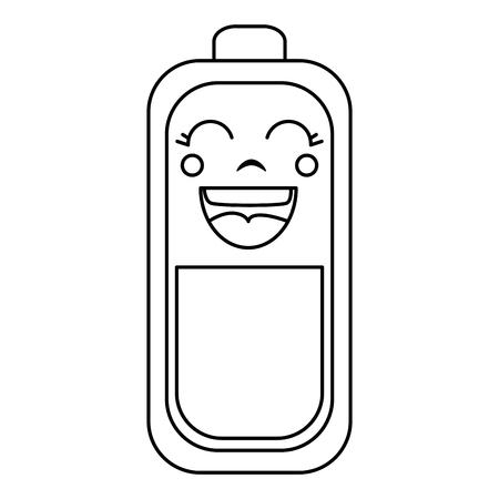 Batterie Ebene Kawaii Charakter Vektor-Illustration Design Standard-Bild - 83796440