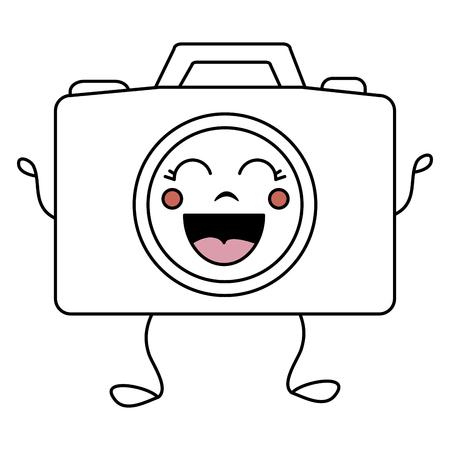 photographic camera kawaii character vector illustration design Stok Fotoğraf - 83796468