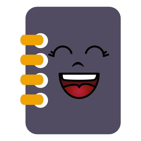 notebook school kawaii character vector illustration design Ilustrace