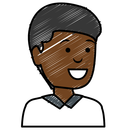 black young man avatar character vector illustration design Illustration