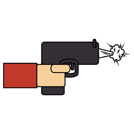 hand with gun icon vector illustration design Ilustracja