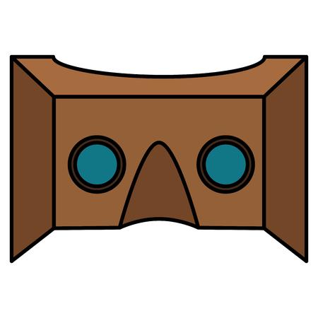 現実仮想マスク技術ベクトル イラスト デザイン